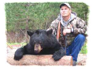Trophy Black Bear hunting in Canada at Haley Brook Camps Guides and Outfitters